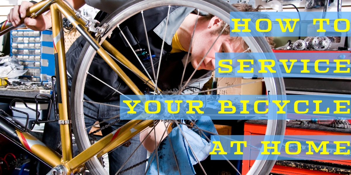 How to service your bicycle at home.